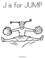 J is for JUMP Coloring Page