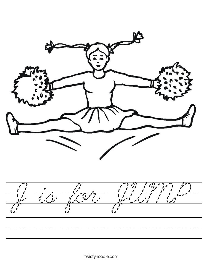 J is for JUMP Worksheet