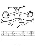 J is for JUMP Worksheet