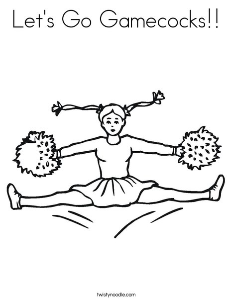 Cheerleader Jumping Coloring Page