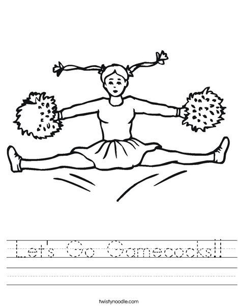 Cheerleader Jumping Worksheet