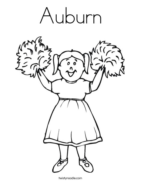 Auburn Coloring Pages Printable