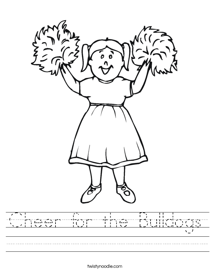 Cheer for the Bulldogs Worksheet