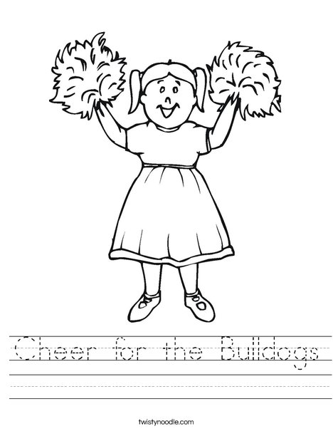 Girl Cheerleader Worksheet