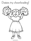 Daisies try cheerleading! Coloring Page