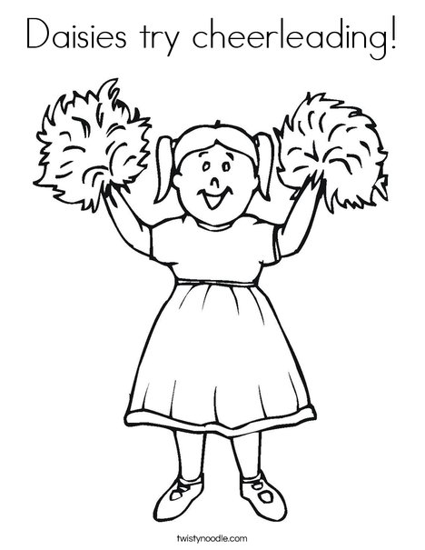 Daisies try cheerleading Coloring Page - Twisty Noodle