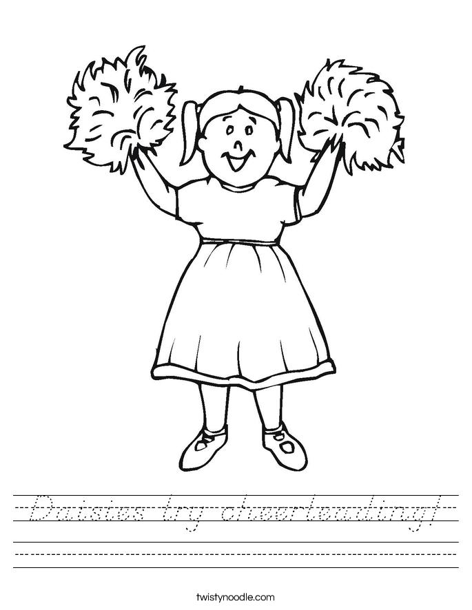 Daisies try cheerleading! Worksheet
