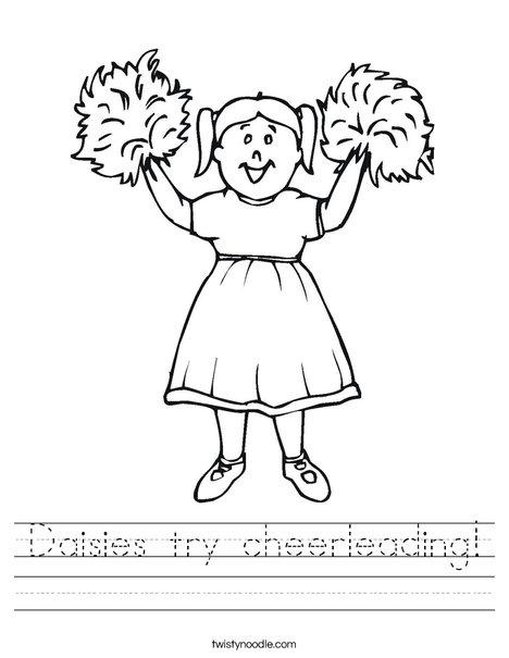Girl Cheerleader Worksheet