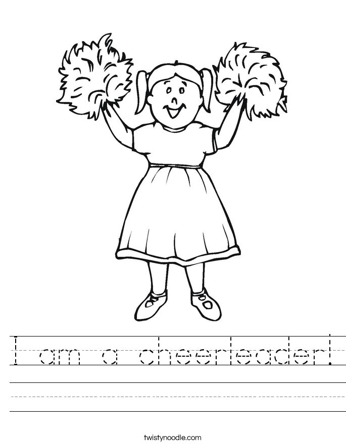 I am a cheerleader! Worksheet