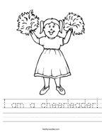 I am a cheerleader Handwriting Sheet