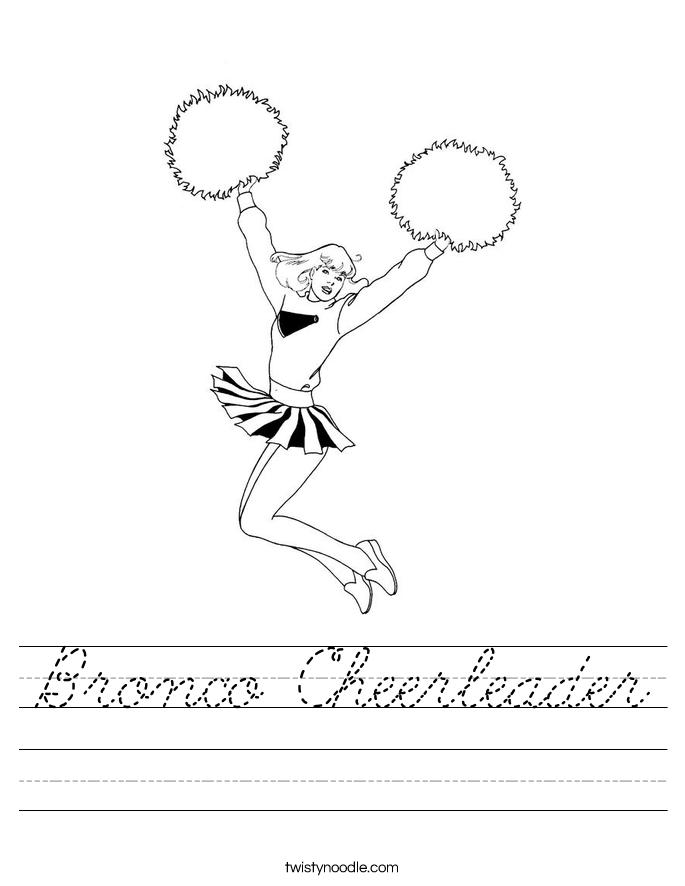 Bronco Cheerleader Worksheet