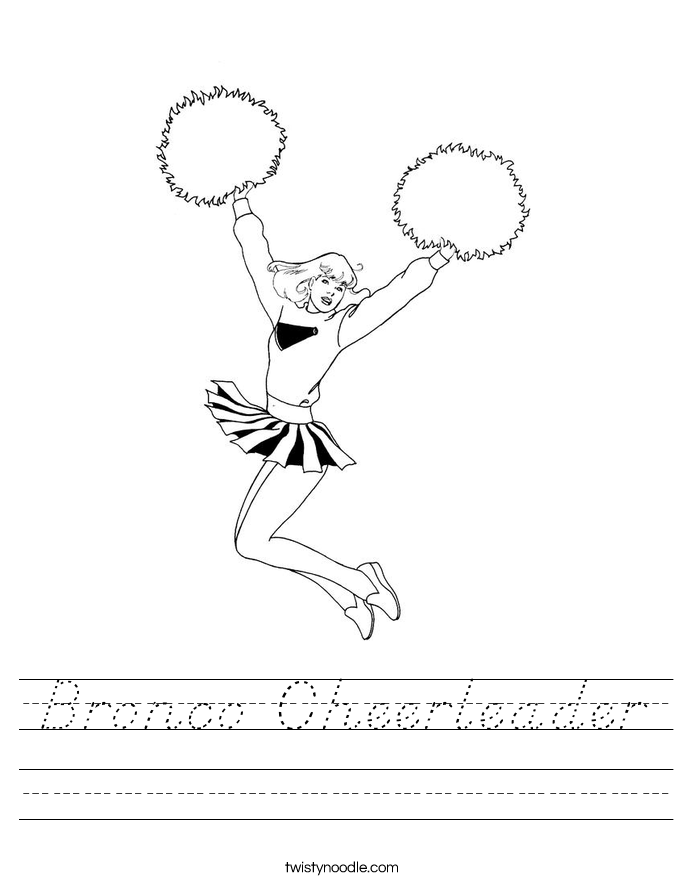 Bronco Cheerleader Worksheet