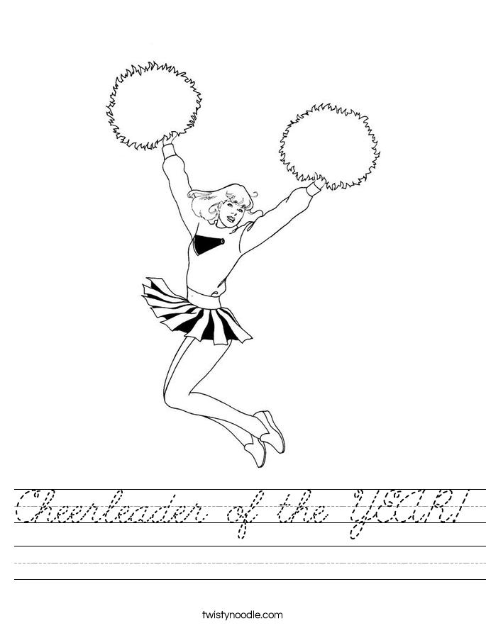 Cheerleader of the YEAR! Worksheet