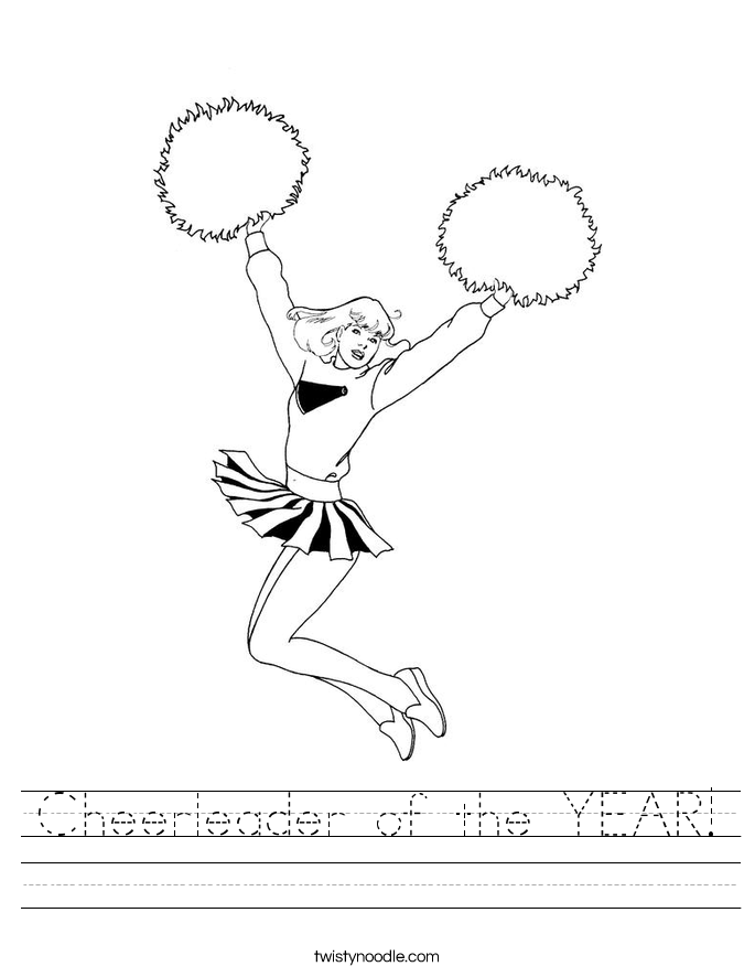 Cheerleader of the YEAR! Worksheet