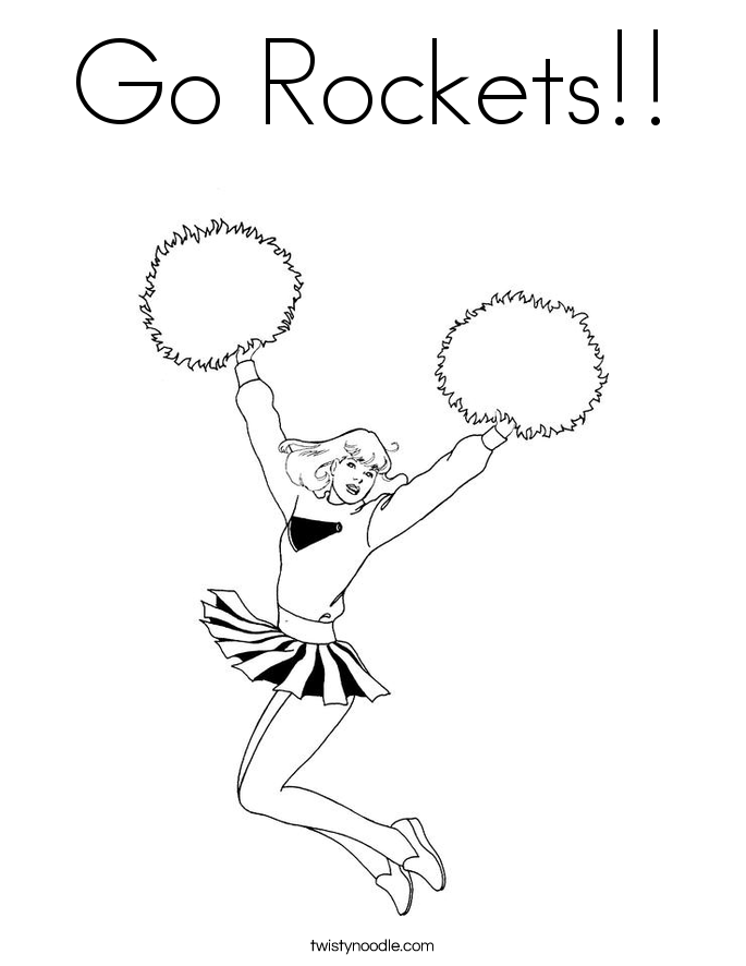 Go Rockets!! Coloring Page
