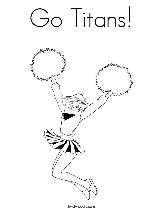 Go Titans! Coloring Page