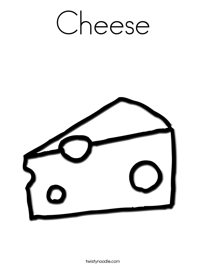 Cheese Coloring Page - Twisty Noodle