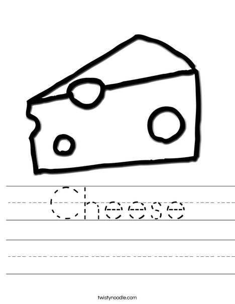 Cheese Worksheet