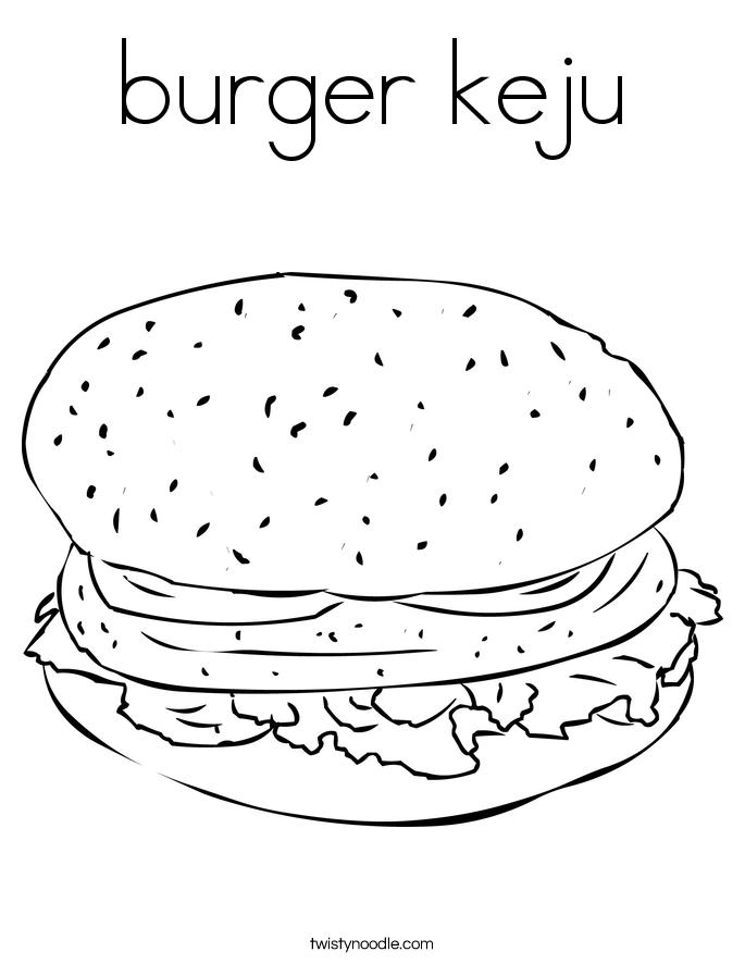 burger keju Coloring Page