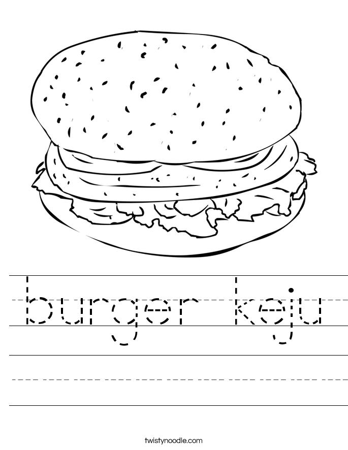 burger keju Worksheet