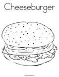 CheeseburgerColoring Page
