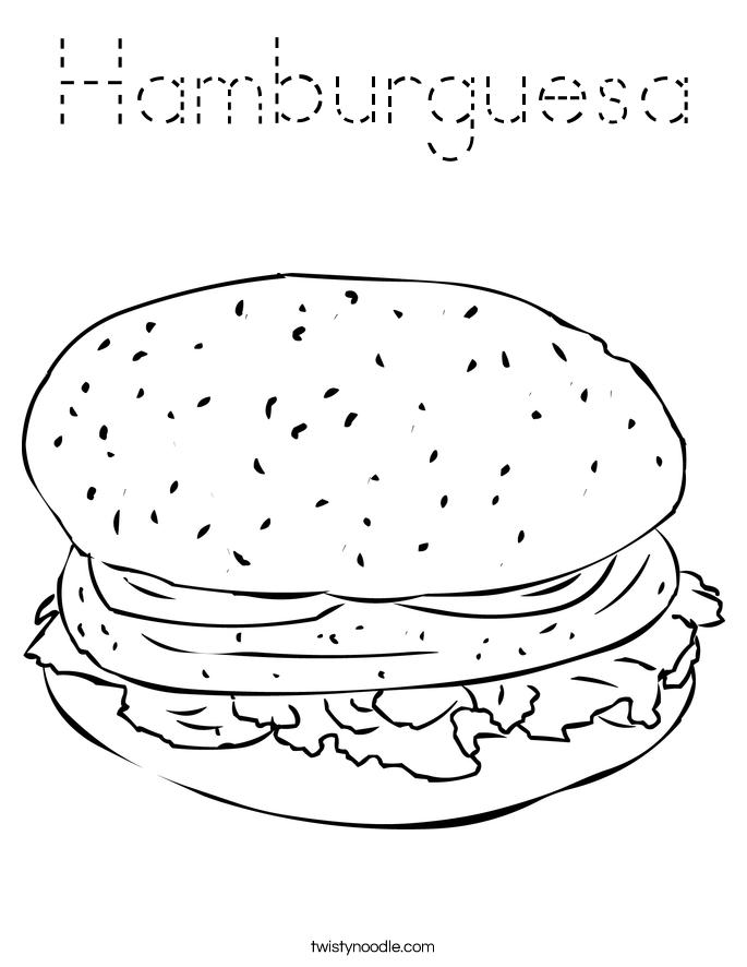 Hamburguesa Coloring Page