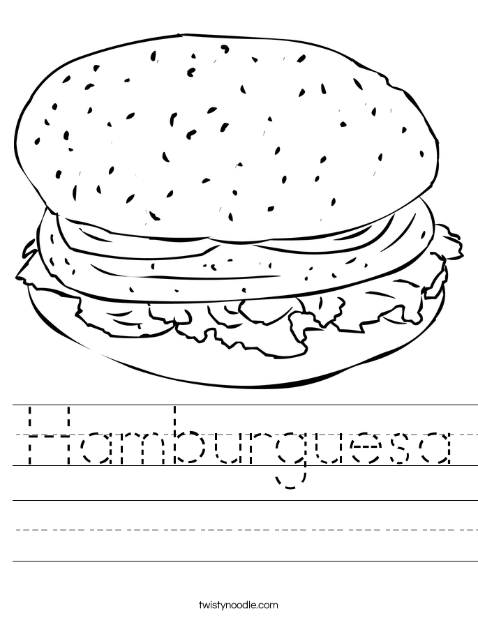 Hamburguesa Worksheet