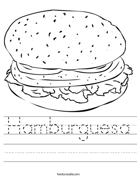 Cheeseburger Worksheet