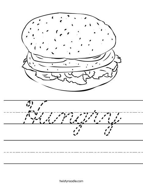 Cheeseburger Worksheet