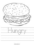 Hungry Worksheet