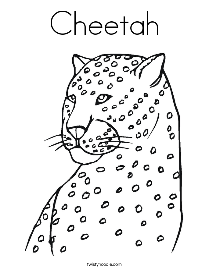 cheetah coloring page - Coloring Pages Lions Tigers