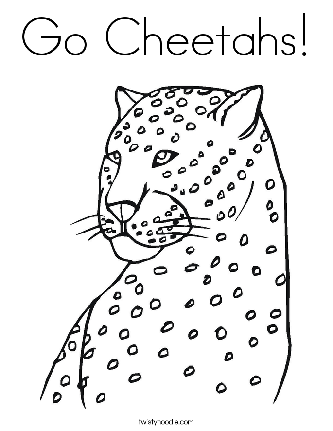 Go Cheetahs! Coloring Page