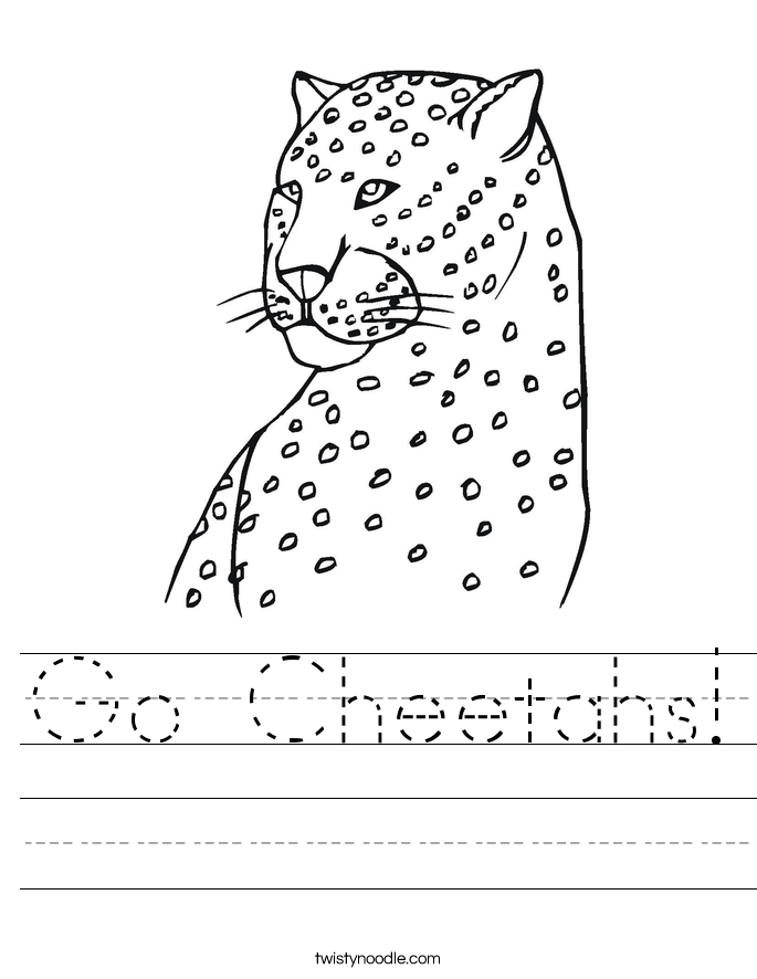 Go Cheetahs! Worksheet