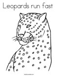 Leopards run fast Coloring Page