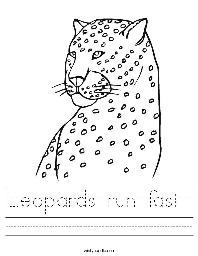 Leopards run fast  Worksheet