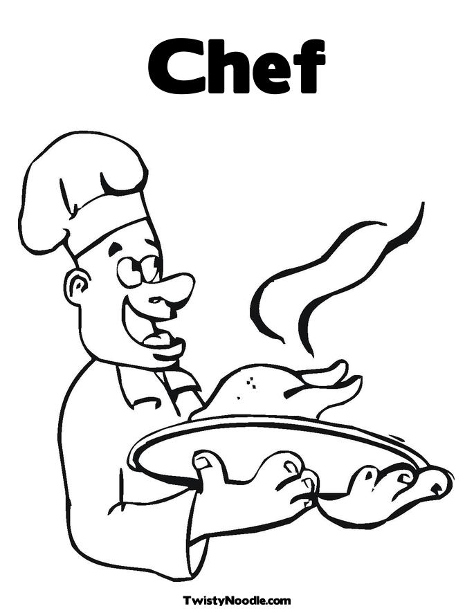 coloring pages of chef hats - photo #10