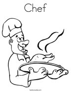 Chef Coloring Page