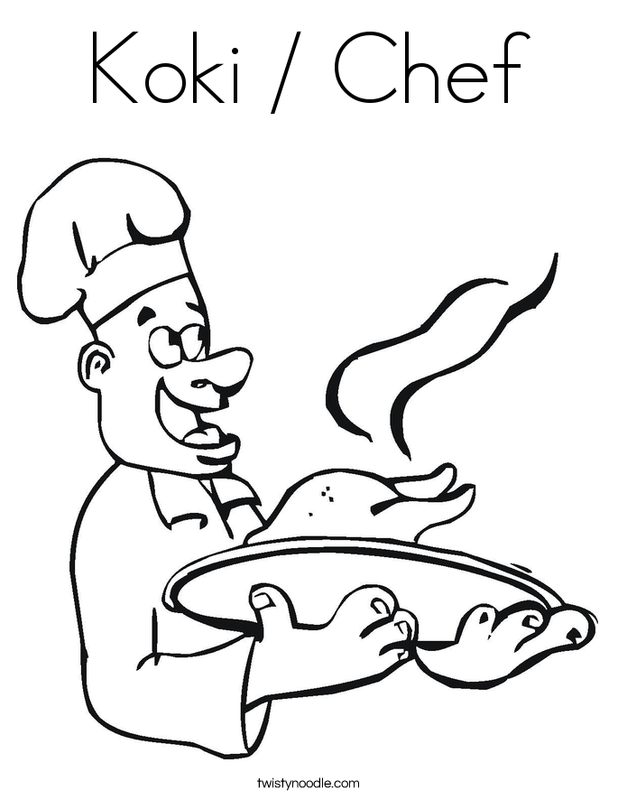 Koki / Chef Coloring Page