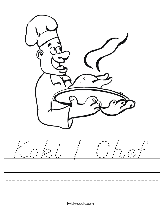 Koki / Chef Worksheet