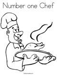 Number one Chef Coloring Page