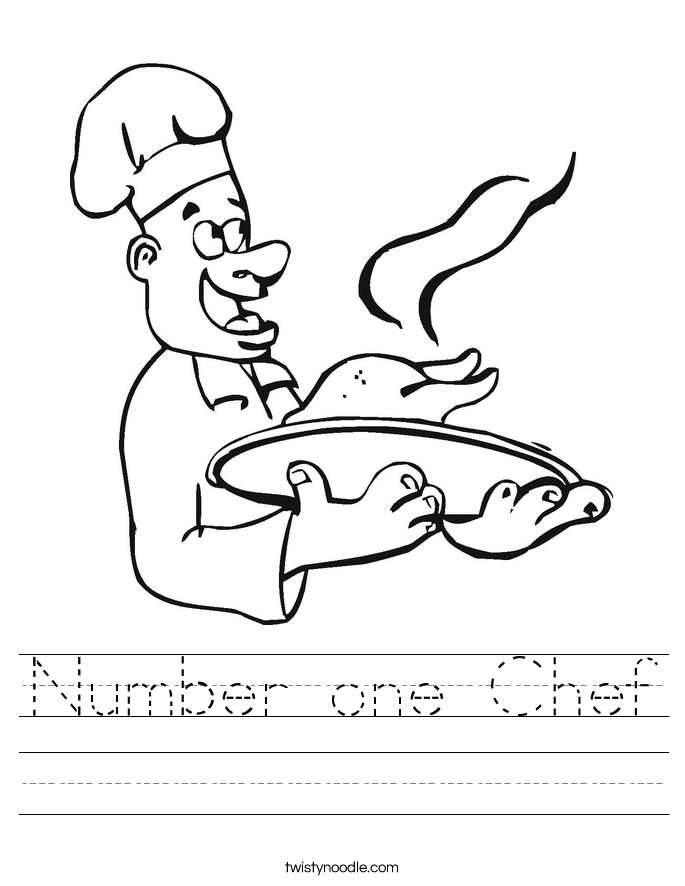 Number one Chef Worksheet