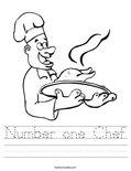Number one Chef Worksheet