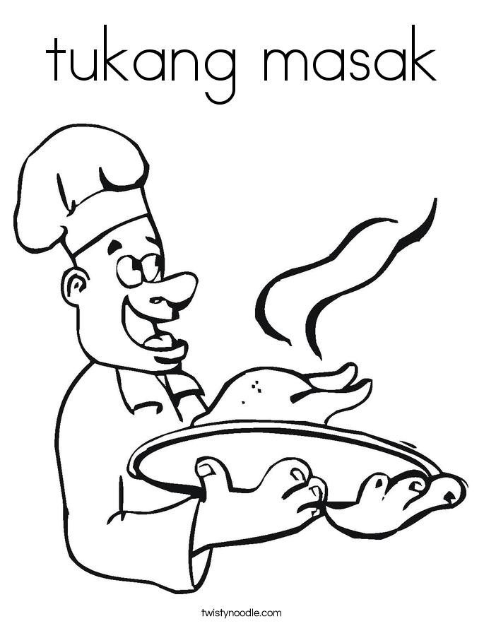tukang masak Coloring Page