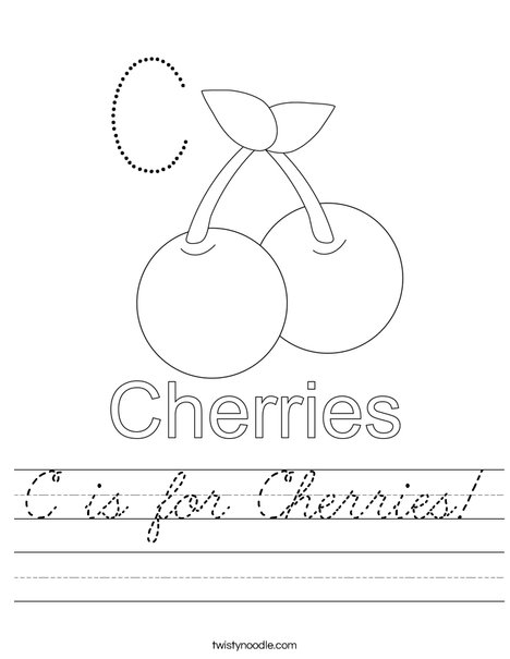 Cherries starts with C! Worksheet
