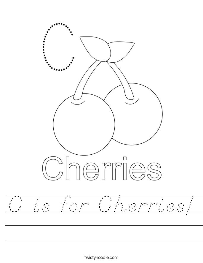 C is for Cherries! Worksheet