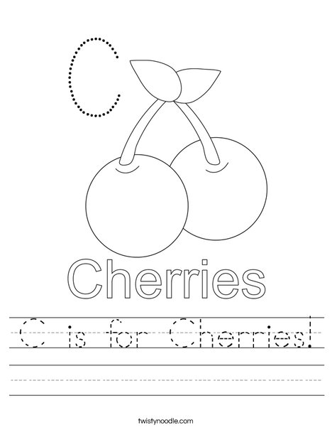 Cherries starts with C! Worksheet