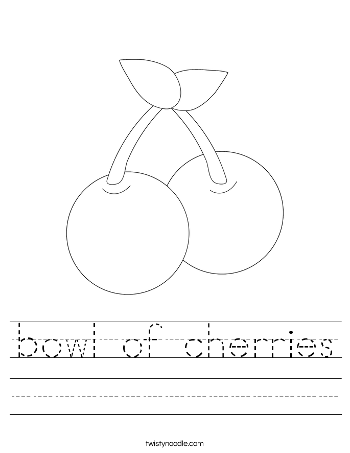 bowl of cherries Worksheet