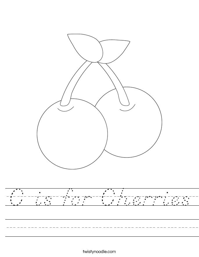 C is for Cherries Worksheet