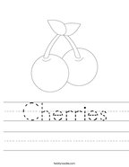 Cherries Handwriting Sheet