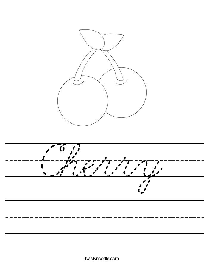 Cherry Worksheet